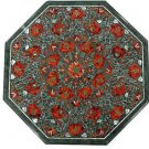 Size 2'x2' Marble Coffee Table Top Hakik Pietra Dura Inlay Christmas Day Gifts