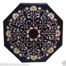 """Size 24""""x24"""" Italian Marble Coffee Table Top Abalone Gems Inlay Marquetry Arts"""