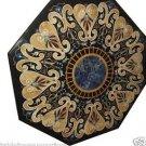 "Size 48""x48"" Black Marble Coffee Table Top Inlay Gem Grand Pietradure Patio Deco"