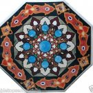 "Size 24""x24"" Marble Center Coffee Table Top Mosaic Inlay Marquetry Outdoor Decor"