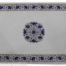 Size 2'x3' Marble Coffee Table Top Lapis Inlay Mosaic Floral Art Home Decor
