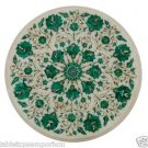 """Size 18""""x18"""" Marble Side Coffee Center Table Top Malachite Mosaic Marquetry Deco"""