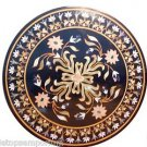 Size 3'x3' Marble Dining Table Top Mosaic Floral Inlay Pietradure Deco Furniture