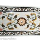 Size 4'x2' Marble Dining Side Table Top Marquetry Mosaic Jasper Inlay Furniture