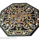 Size 4'x4' Marble Dining Coffee Table Top Mosaic Inlay Marquetry Art Patio Decor
