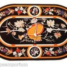 Size 4'x2' Marble Coffee Dining Side Table Top Rare Pietradure Mosaic Inlay Work