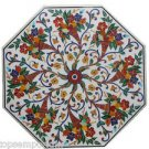 """Size 42""""x42"""" Marble Dining Table Top Rare Inlay Mosaic Floral Art Home Decor"""
