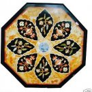 "Size 24""x24"" Marble Coffee Side Table Top Marquetry Inlay Mosaic Art Home Decor"