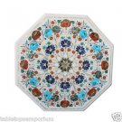 Size 2'x2' Marble Coffee Table Top Semi Precious Original Inlaid Christmas Gifts
