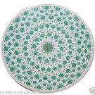 "Size 30""x30"" Marble Coffee Table Top Rare Malachite Gems Mosaic Art Decor"