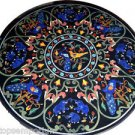 Size 4'x4' Marble Dining Center Table Top Lapis Mosaic Jungle Art Home Decor