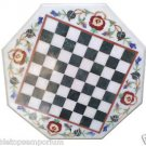 """Size 30""""x30"""" Marble Dining Coffee Center Chess Table Top Inlay Marquetry Mosaic"""
