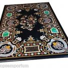 Size 4'x2' Marble Dining Table Top Rare Inlay Mosaic Fine Art Marquetry Decor