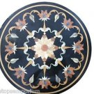 "Size 24""x24"" Marble Coffee Side Table Top Semi Precious Inlay Mosaic Decor Gifts"