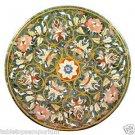 3'x3' Marble Coffee Table Top Rare Inlay Mosaic Pietradure Art Outdoor Furniture