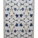 Size 3'x6' Marble Dining Table Top Rare Lapis Gemstone Mosaic Floral Decor Arts