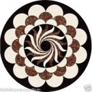"""Size 24""""x24"""" Marble Round Coffee Table Top Jasper Gem Marquetry Inlay Art Decor"""