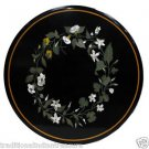 Size 2'x2' Marble Round Center Coffee Table Top  Rare Mosaic Floral Decor
