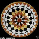 "36"" Black Marble Table Top Coffee Inlaid Pietra Dura Home Decor Gifts Art Mosaic"