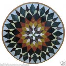 """Size 30""""x30"""" Marble Coffee Table Top Inlay Marquetry Mosaic Gemstone Decor"""