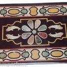 Size 4'x2' Marble Dining Side Corner Table Top Rare Pietradure Mosaic Inlay Work