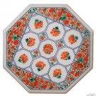 Size 2'x2' Marble Coffee Table Top Taj Mahal Garden Design In Inlay Home Decor