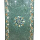 Size 3'x6' Marble Dining Table Top Rare Hakik Inlay Marqetry Patio Decor