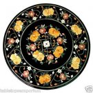 Size 2'x2' Marble Coffee Corner Table Top Inlay Floral Mosaic Marquetry Art Deco