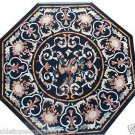 "Size 30""x30"" Marble Coffee Table Top Mosaic Style Inlay Pietradure Garden Decor"