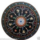 Size 3'x3' Marble Side Corner Table Top Mosaic Inlay Marquetry Decor Furniture