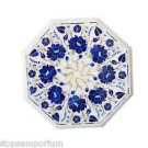 Size 1'x1' Marble Coffee Table Top Rare Pietra Dura Flower Pietra Dura Decor Art