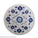 Size 1'x1' Marble Coffee Table Top Lapis Marquetry Mosaic Home Decor Gifts New