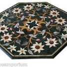 """Size 20""""x20"""" Marble Coffee Table Top Marquetry Mosaic Style Inlay Work Home Deco"""