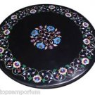 "Size 24""x24"" Marble Coffee Center Table Top Rare Mosaic Inlay Garden Decorative"
