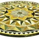 "Size 36""x36"" Marble Coffee Table Top Pietradure Mosaic Real Gemstone Inlay Style"