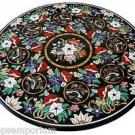 "Size 36""x36"" Marble Coffee Table Top Mosaic Inlay Birds Pietradure Art Home Deco"