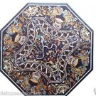 "Size 42""x42"" Marble Coffee Side Table Top Marquetry Mosaic Inlay Arts Home Decor"