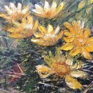 "Oil Painting—Yellow Flowers—Nature Fine Art Oil Painting On Canvas Size: 8"" x  12"" (20 x 30 cm)"