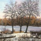 "Oil Painting—Late Fall—Fine Art Oil Painting-Size: 12"" x  16""(30 cm x 40 cm)"