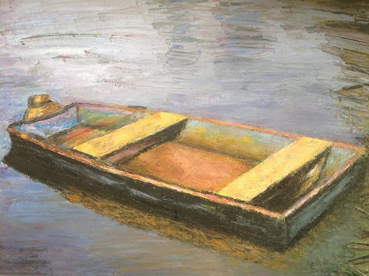 "Oil Painting�Boat�Fine Art Oil Painting-Size: 12"" x  16"" (30 cm x 40 cm)"