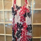 VIE by Victoria Royal Black & Red Floral Print Beaded Formal Dress Size 16W