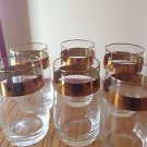 Set of 6 vintage glasses thin with gold design