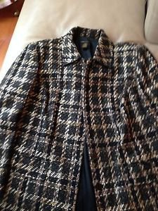 Women's Grace Dane Lewis  lined short coat brown/black with hidden button front