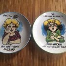 Finkstrom Annoyingly Honest For Centrum Plates Set of 2 Old Elderly Funny Jokes