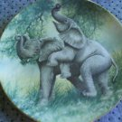 "Royal doulton collector plate"" elephant play"""