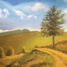 "Oil Painting—Gold Valley—Fine Art Oil Painting On Canvas- Size: 14"" x  20"" (35 cm x 50 cm)"