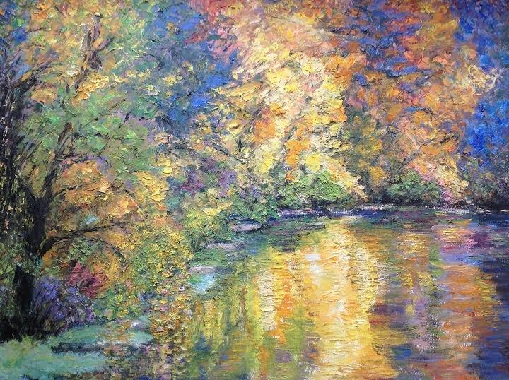 """Oil Painting � Autumn leaves�Fine Art Oil Painting-Size: 16"""" x  20"""" (40 cm x 50 cm)"""