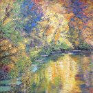 "Oil Painting — Autumn leaves—Fine Art Oil Painting-Size: 16"" x  20"" (40 cm x 50 cm)"
