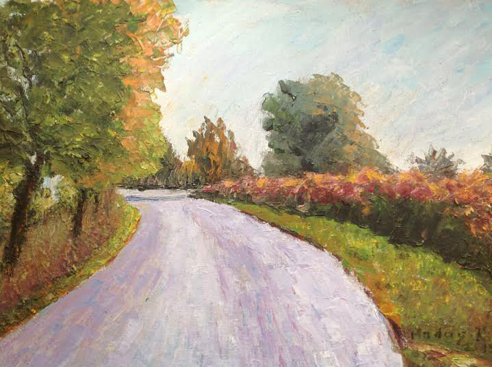 "Oil Painting�Road�Fine Art Oil Painting-Size: 12"" x  16""(30 cm x 40 cm)"