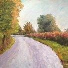 "Oil Painting—Road—Fine Art Oil Painting-Size: 12"" x  16""(30 cm x 40 cm)"